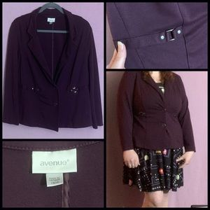 Avenue Plum Fitted Jacket Sz. 14
